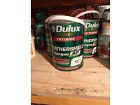 Dulux exterior weathershield paint -white