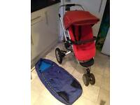 Quinny Buzz Pram + cosy toes and rain cover - GOOD used condition!