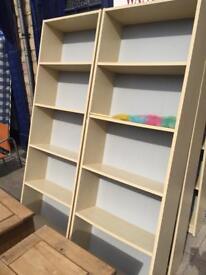 Ikea bookcases.