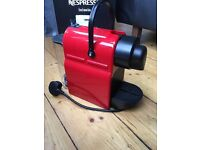Nespresso Inissia red coffee machine