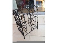 Black heavy duty wine rack - NEW £5 ONLY