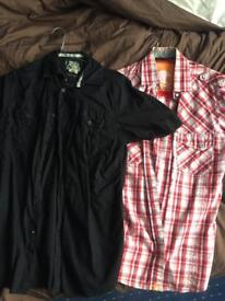 2x short sleeve shirts £10 o.n.o