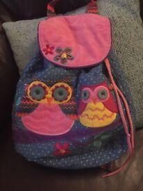 Stephen Joseph children's owl backpack