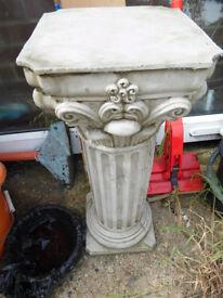 concrete stone roman featured plinth column garden ornament