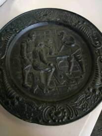 Cast metal big wall plaque £22