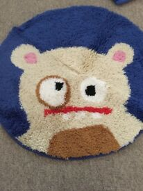Boys animal print single duvet set with matching round rug