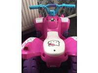 Kids hello kitty quad bike