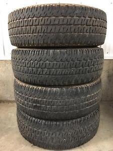 Set of LT245/75R16 truck tires