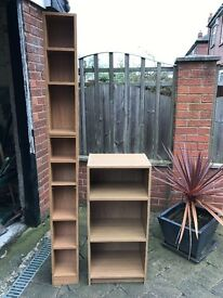 Tall CD tower and bookcase, good condition