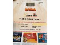Sun x 2 Tickets for legoland 18/10/16