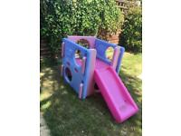 Little Tikes Pink 3 in 1 Activity Cube Centre! Slide & climbing frame. LittleTikes!