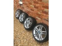 BMW genuine 18 inch alloy set with tyres
