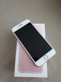 Immaculate Unlocked iPhone 7 Rose Gold 128GB + Case