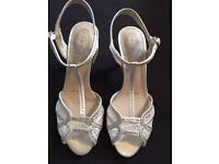 Ivory heeled shoes size 6