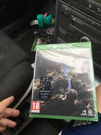 Shadow of war new and sealed Xbox one