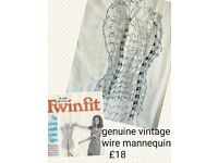 REDUCED Genuine 50/60's adjustable wire mannequin
