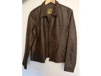 Real Buffalo Brown Leather Jacket - Size L-XL - *Mint condition*