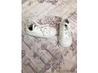 White converse Infant size UK 7