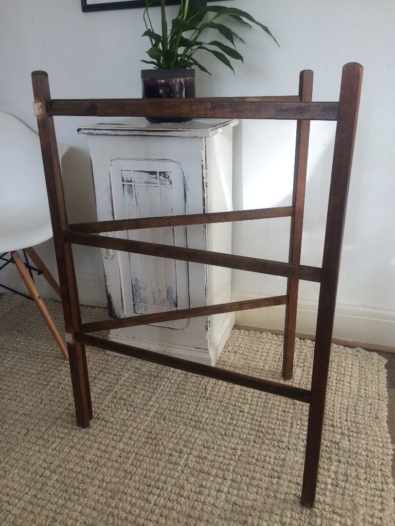 Vintage Wooden Clothes Airer In Stockport Manchester
