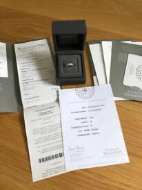 BEAVERBROOKS PLATINUM 0.67CT DIAMOND TRILOGY RING SIZE L