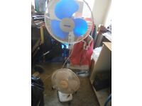 2 Electric Fans for sale. Astor free standing and table fan. Excellent working order.