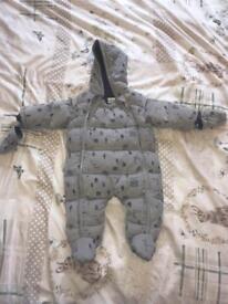 Mamas and papas 6-9m winter snow suit
