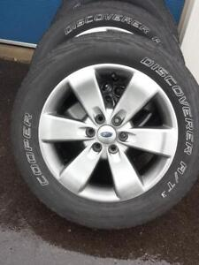 2015 FORD F150  FACTORY OEM 20 INCH WHEELS WITH 275 / 55 / 20 ALL SEASONS