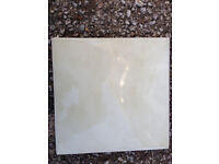 12 boxes of 18 (216) Bathroom tiles 15cm x 15cm Plain tiles - price per box