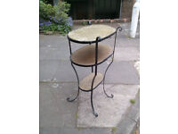 Art Deco wrought iron plant stand 1930's - antique