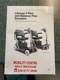 Nearly new Liteway Mobility scooter