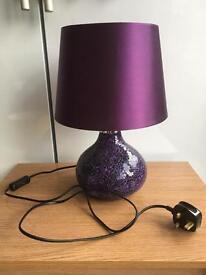 Purple table lamp
