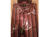 VANHEUSEN dark Striped shirt, brand new, Size 15
