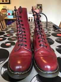 Dr Martin Boots Size 9, 10 hole Excellent Condition Hardly Worn £55