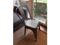 2x Iron Grey Bistro Garden Chairs