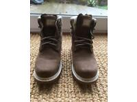 Worn once - Brown Cat boots size 6