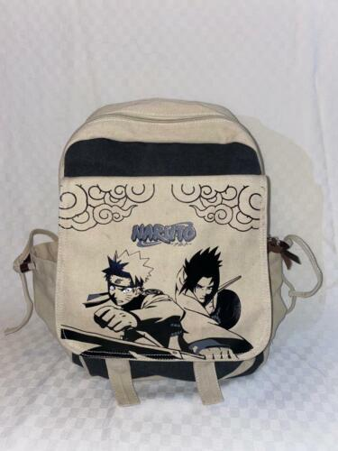 Naruto Uzumaki & Sasuke Uchiha Backpack Canvas Bag Travel Rucksack