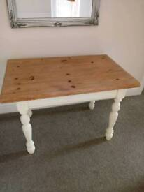 Small Solid Pine Farmhouse Side Table