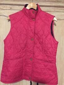 Pink Barbour Gilet Size 12