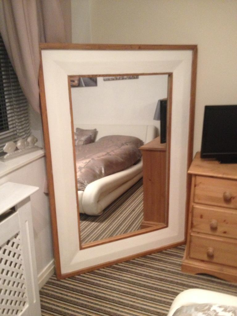 Mirror Oak Frame 1mx 1 5m Large Focal Point Can Be Hung On The