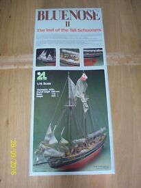 NEW Ship model kit of Bluenose II the Last of the Tall Schooners