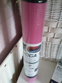 pink new yoga mat