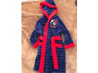 Boys Thomas The Tank dressing gown aged 2-3