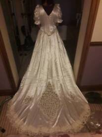 Handmade Ivory Wedding Dress Approx Size 16