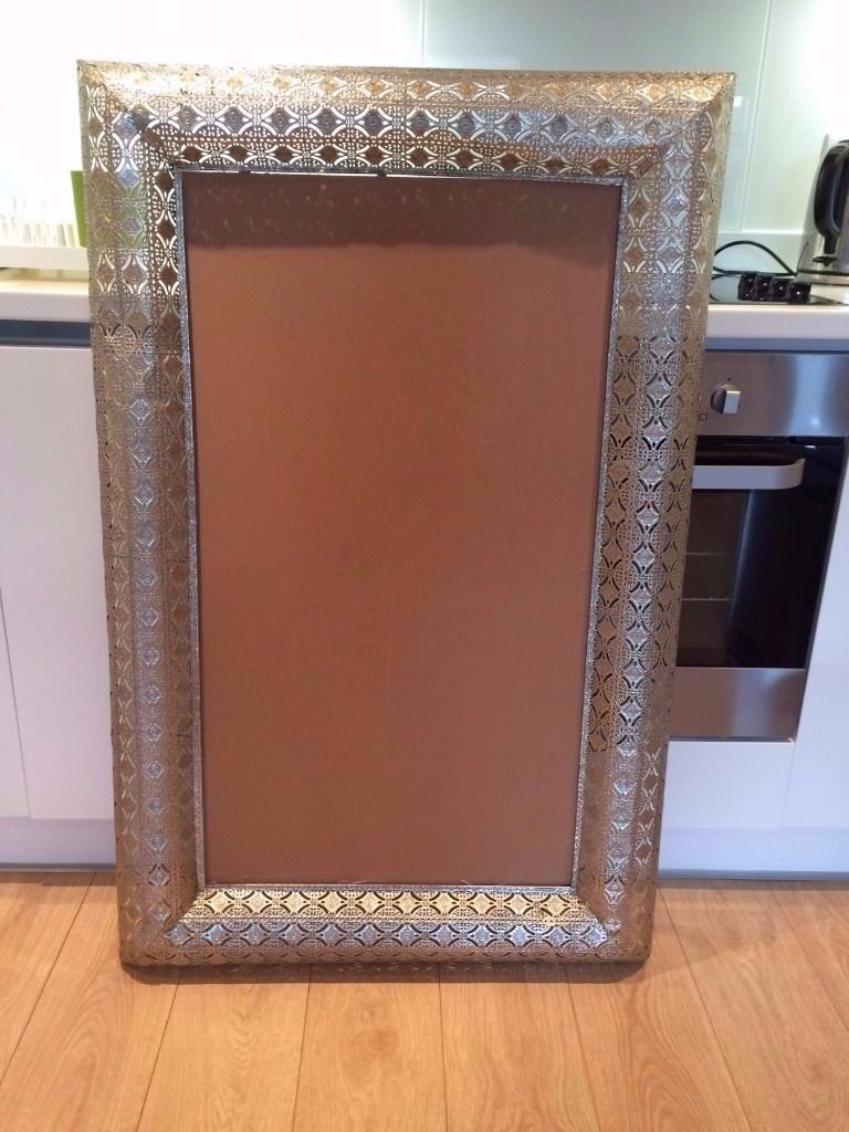 Large Ornate Moroccan Mirror Picture Frame Metal London