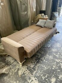 STYLISH --TURKISH 3 SEATER SOFABED IN STOCK NEXT DAY DELIVERY--