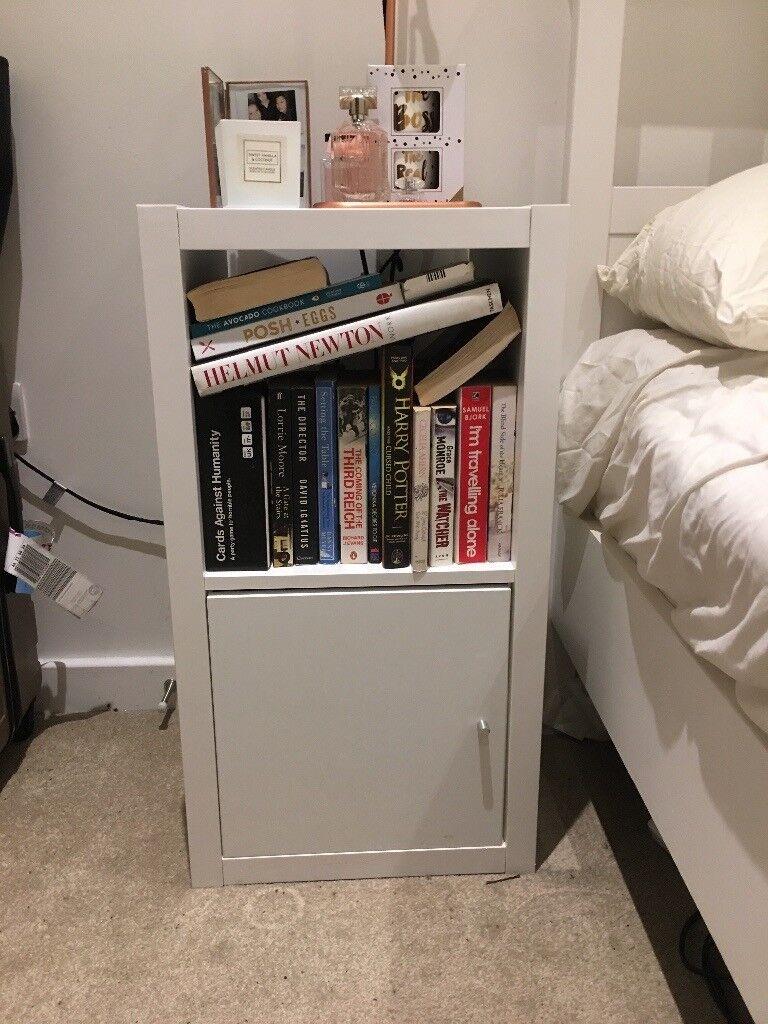 White Cube Bedside Table Bookshelf