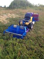 18 hp ride-on blueberry harvester