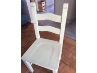 Dining chairs solid pine painted x4