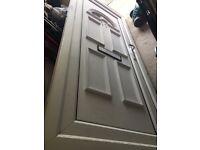 PVC door in frame