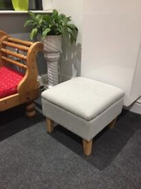 Light Grey Footstool